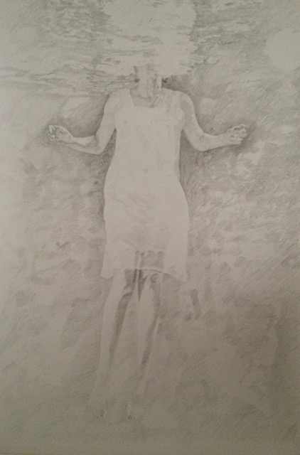 Rise - Drawing, graphite stick 2m x 1.5m