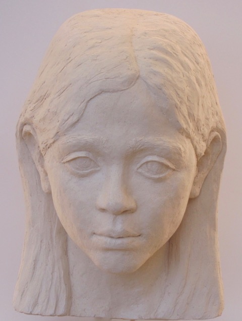 Portrait of Sita, stoneware clay
